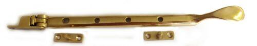 4 X Georgian casement window stays solid brass 270mm  made in England