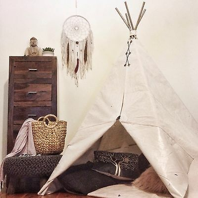 Childrens Teepee, Handmade play tent  *hardwood poles Included!* 1.5mH x 1.35m