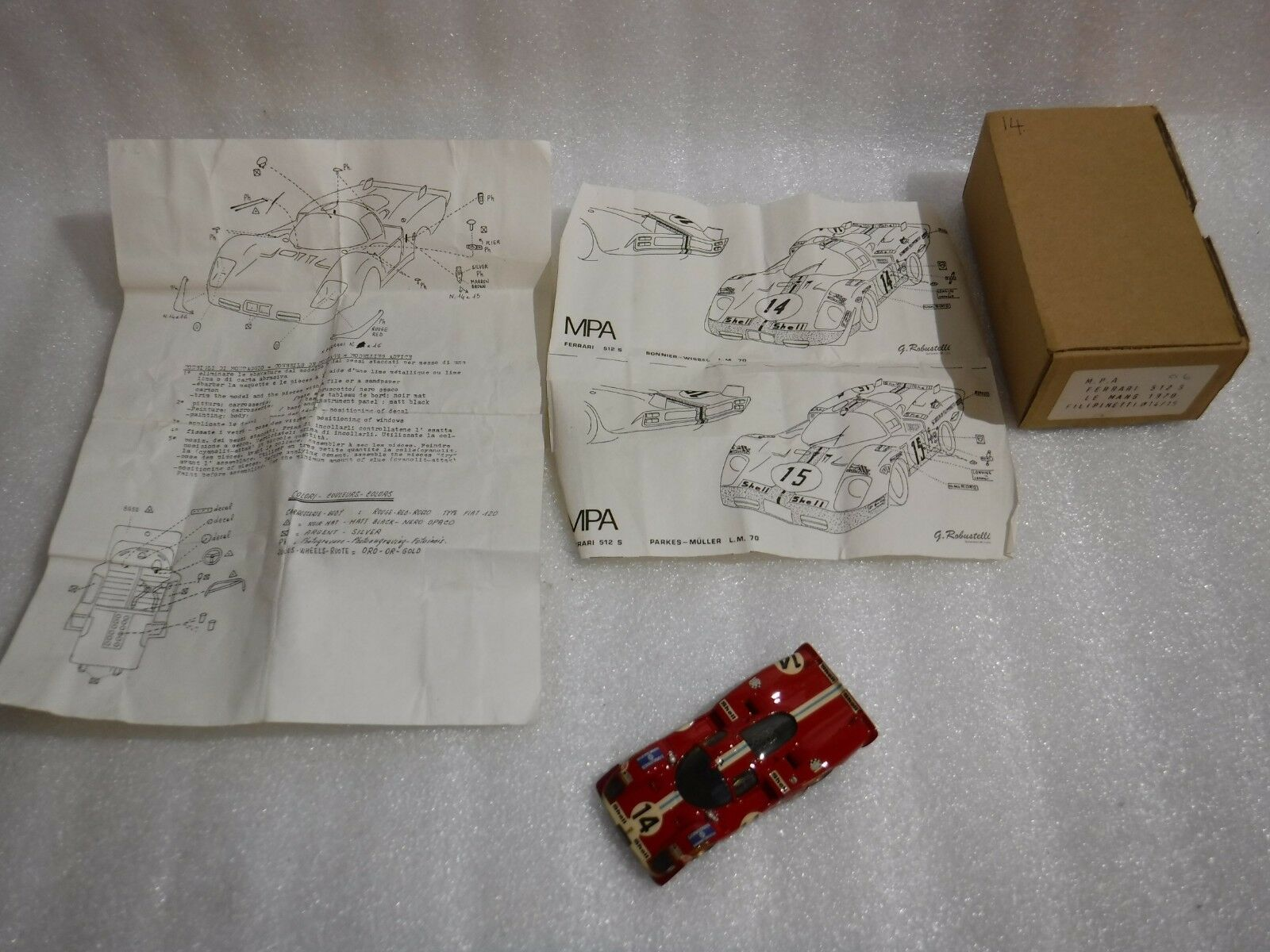 Vintage M P A Of France Ferrari 512S Le Le Le mans 1970 Kit Model Race Car ....Rare   95a5b6