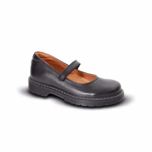 Petasil per Bambini Ragazze Clyde Mary Jane Pelle scarpe scuola nero