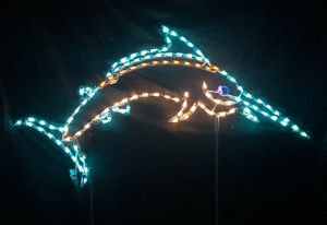 Nautical-Holiday-Christmas-Jumping-Marlin-LED-Lighted-Decoration-Steel-Wireframe