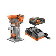 Compact Cordless Router Kit Woodworking Cabinetry DIY Garage Polishing Trim 18V