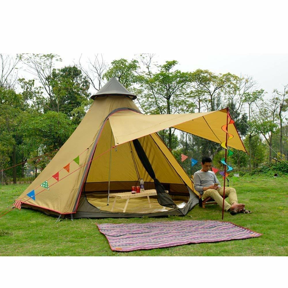 Doppio Strato Impermeabile Teepee tipitent yurta Famiglia Campeggio Leggero all'aperto