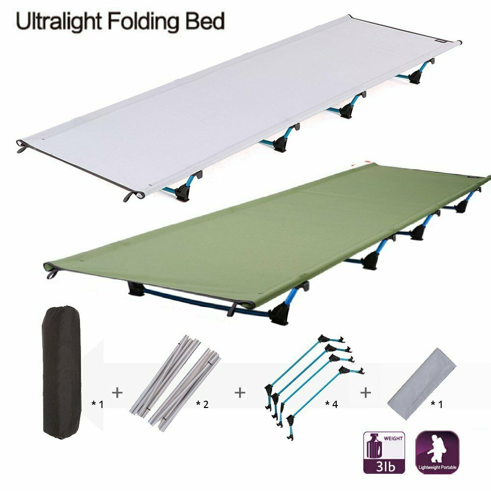 Ultralight Folding Camp Bed Camping Cot Sleeping Outdoor  Picnic Hospital Mat  BE  enjoy saving 30-50% off