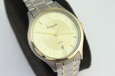 Eichmüller Herren Armbanduhr All Titan Bicolor Japan Werk dünn und leicht