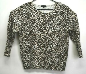 Verve-Ami-Women-039-s-Size-XL-Cheetah-Print-Long-Sleeve-Button-Up-Cardigan