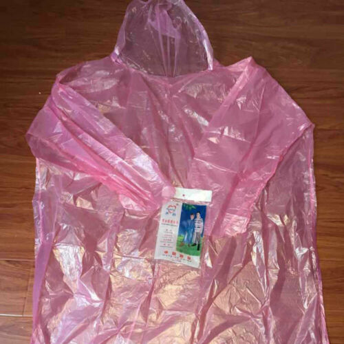 10x Waterproof Disposable Adult Emergency Rain Coat Poncho/'s Hiking Outdoor