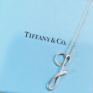 db5add2234014 Details about Tiffany & Co. E. Peretti S. Silver Alphabet Initial Letter G  Pendant Necklace