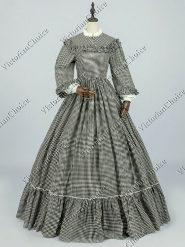 Victorian Costumes: Dresses, Saloon Girls, Southern Belle, Witch    Victorian Civil War Pioneer Woman Country Maiden Dress Theater Quality Gown 260 $144.69 AT vintagedancer.com