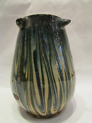 ancien vase en gres jaspé vernissé epoque 1910