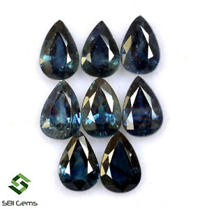 5-01-Cts-Natural-Blue-Sapphire-Pear-Cut-6x4-mm-Lot-08-Pcs-Calibrated-Gemstones