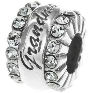 Sterling-Silver-Grandmother-Grandma-Nana-Crystal-CZ-for-European-Charm-Bracelets