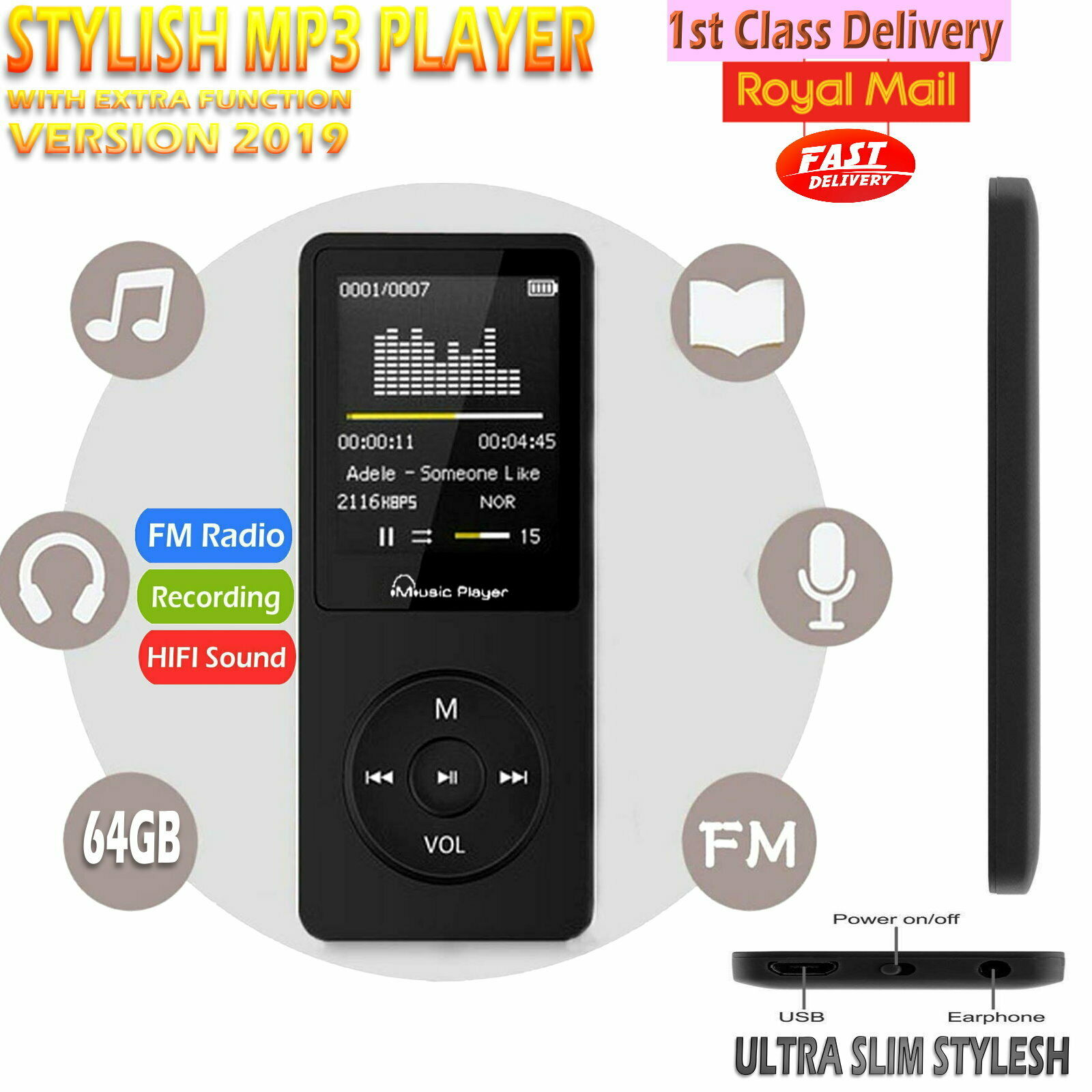 Hipstreet Crossfade 8GB MP3 Video Player With Bluetooth