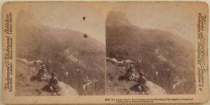 Verso L Italia Maloja Engadine Lake Suisse Foto Stereo Vintage Albumina 1901