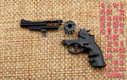 "1:6 Scale Stirling Black Revolver Gun Model Weapon Model F12/"" Action Figure"