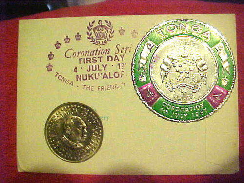 #65 JULY 4, 1967 99 COMPANY FIRST DAY FIRST ISSUED TONGAN 50 SENITI CORONATION