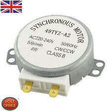 CW/CCW Turntable Microwave Oven Synchronous Motor AC 220-240V 4RPM 4W Uomtj