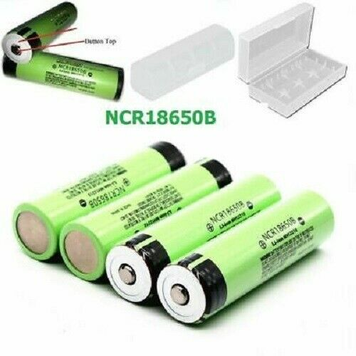 Panasonic NCR1865B 3400mAh Battery Button Top For Video Doorbell Torch LEd lig