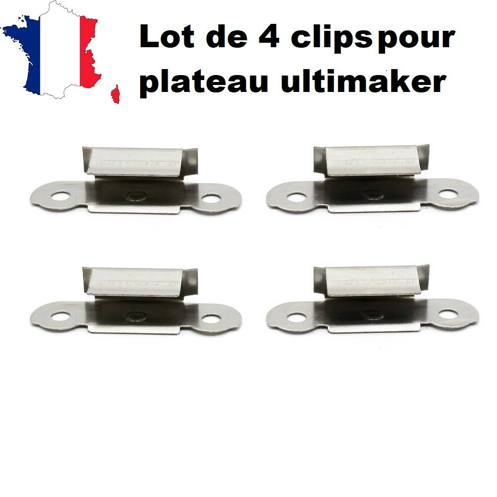Lot Of 4 Clips For Tray Printer 3D Ultimaker