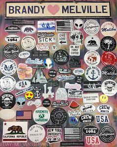 c9bdcd104e23 HUGE!! BIGGEST Lot Of 78 Brandy Melville Deco Vinyl Stickers Set ...