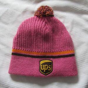 UPS TOQUE PINK Winter Hat CAP TUQUE BEANIE UNITED PARCEL SERVICE ... c4ecd0c608e