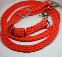 Pony Or Mini Paracord Reins Orange