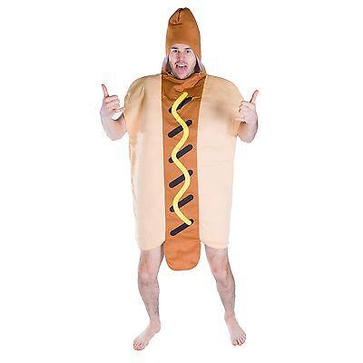 Adulto Uomo Donna Da Donna Divertente Hot Dog Food Drink Fancy Dress Costume Outfit Addio al Nubilato