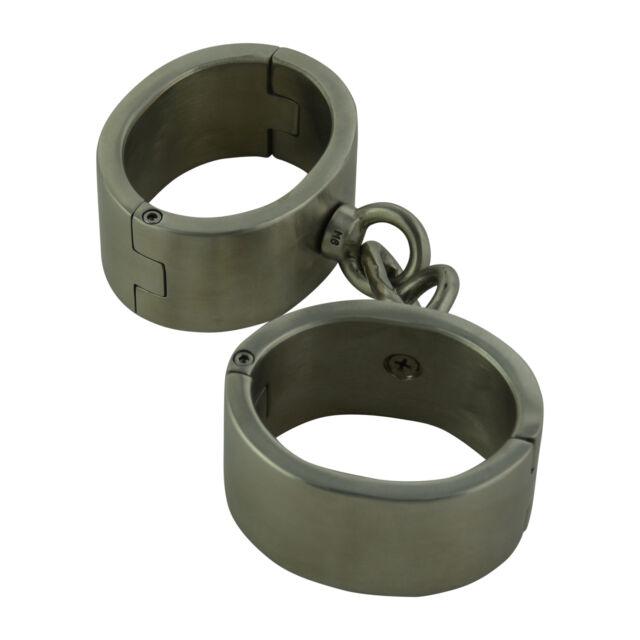 Schwere Handringe Handfesseln Stahl Luxus Fesseln schwer oval 50x65mm