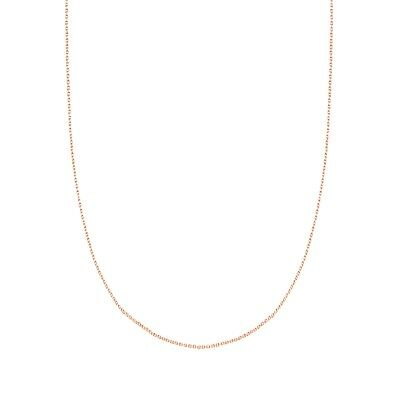 14K Rose Gold 1mm Solid Cable 16 Chain