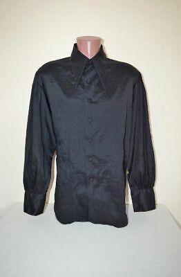 Intelligent Original True Vintage Edel Georgette Hemd Von Campus In Schwarz,gr.xl 56 58 Wneu Kunden Zuerst