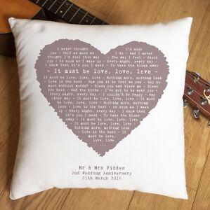 Madness-It-Must-Be-Love-Lyrics-Heart-Cushion-2nd-Anniversary-Wedding-Valentine
