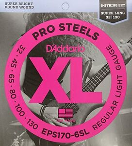 d 39 addario 6 string prosteels bass guitar strings light 30 130 super long scale 19954947132 ebay. Black Bedroom Furniture Sets. Home Design Ideas