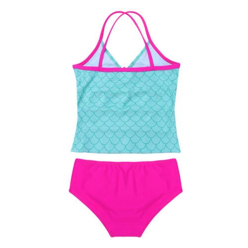 Kids Baby Girls Mermaid Swimwear Bikini Swimsuit Bathing Suit Sunsuit Costume