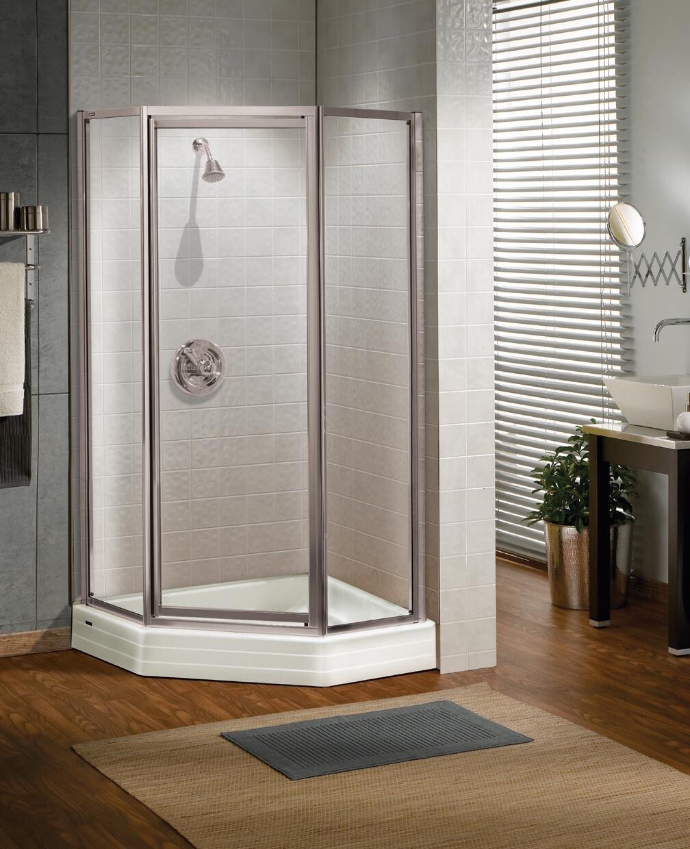 Maax Silhouette Plus 36 X 36 Frosted Glass Neo Angle Pivot Corner Shower Door