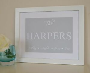 Housewarming-Gift-New-Home-Present-Personalised-Family-Print-Sign-Plaque-Framed