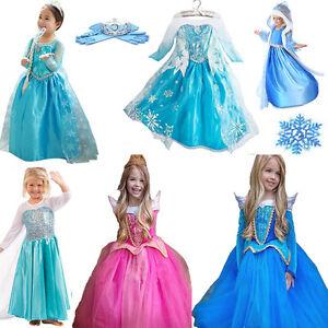 Kostüme Eiskönigin Aurora Belle Elsa Kleider Prinzessin Frozen PXZiOTku