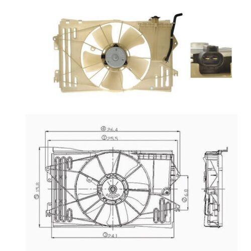 Electric Rad /& Cond Cooling Fan Assembly Fits 2003-2008 Toyota Matrix L4 1.8L