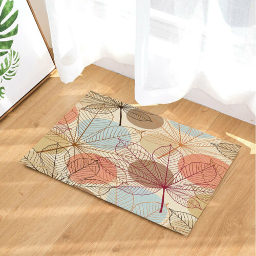 Creative Colorful Leaves Non-Slip Floor Outdoor Indoor Front Door Mat bathroom