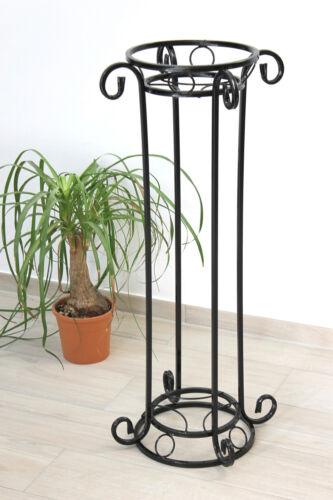 Blumensäule Metall Schwarz KW042 Blumenständer 97 cm Pflanzsäule Pflanzenständer