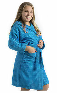 byLora Microfiber Kids Hooded Robe, Embroidery Available