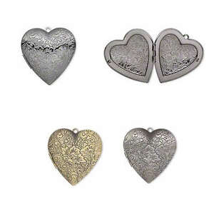 1-5-8-034-Heart-Shape-Locket-Charm-Pendant-with-Fancy-Etched-Flower-Detailed-Design