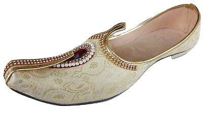 Mens Punjabi Jutti Mojari Khussa Indian ethnic Flat Shoes US size 8-12 GS