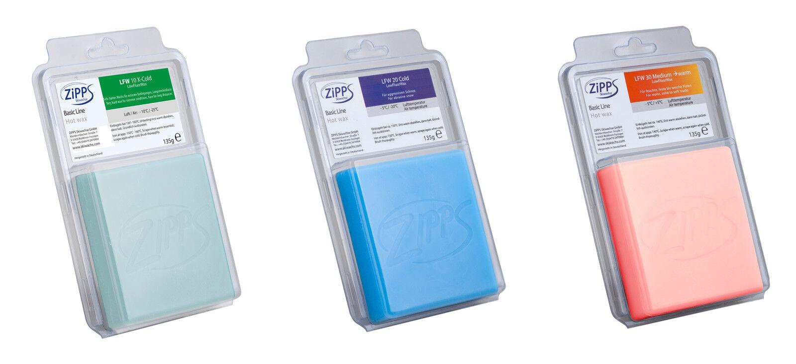 Zipps Hot Wax Race Wax Low Fluor Various Areas in Set