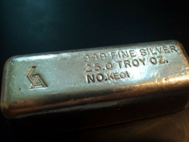 25 Oz Silver Bar Golden Ytical