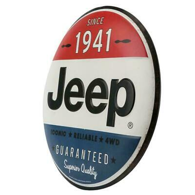 Jeep Embossed Metal Sign Wrangler CJ Rubicon Cherokee Authentic American Legend