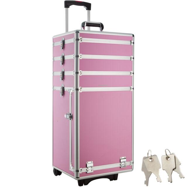 Valise malette trolley a roulettes esthetique vanity beaute salon coiffure pro world poker tour poker chip set