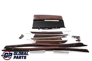 BMW X5 Series E70 Decor Strip Trim Dashboard Cover Wood Set Bamboo Grain Dark