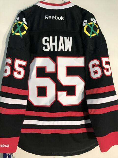 new arrival 483aa cc3f3 Reebok Premier NHL Jersey Chicago Blackhawks Andrew Shaw Black Alt Sz M