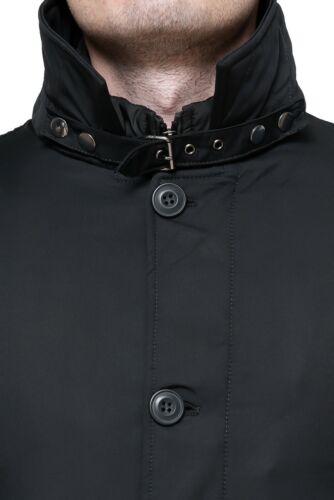 Veste Homme Diamond Hivernal Noir Élégant Veste Manteau avec Gilet Interne
