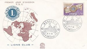 Monaco 1963 Founding of Monaco Lions Club FDC VGC - Dartford, Kent, United Kingdom - Monaco 1963 Founding of Monaco Lions Club FDC VGC - Dartford, Kent, United Kingdom
